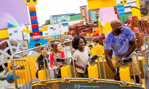 LEGO Movie World Battle of Bricksburg ride at LEGOLAND Florida Resort in Winter Haven, FL