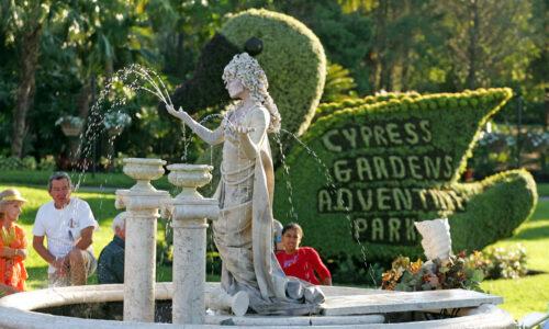 Cypress Gardens Theme Park sign