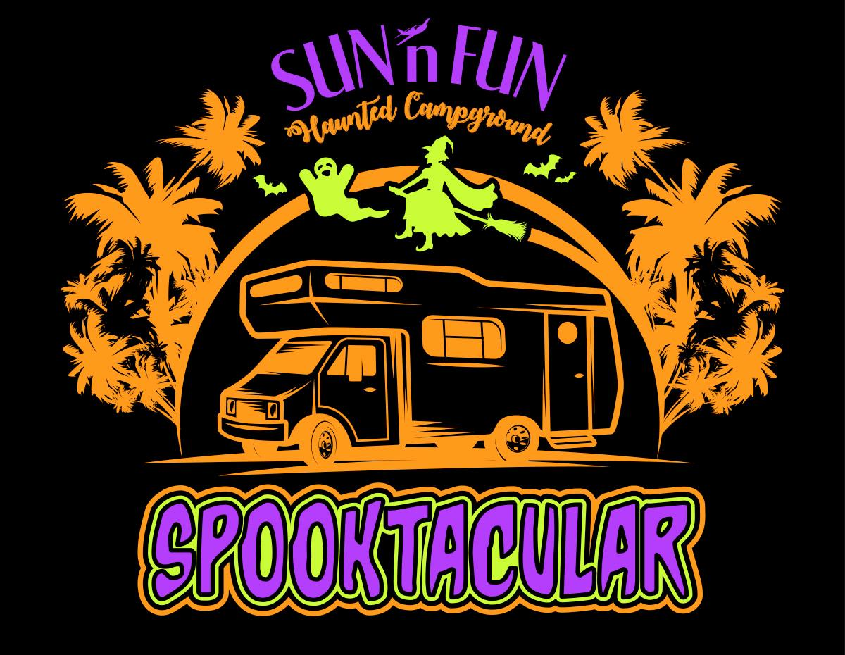 Sun 'n Fun spooktacular event logo