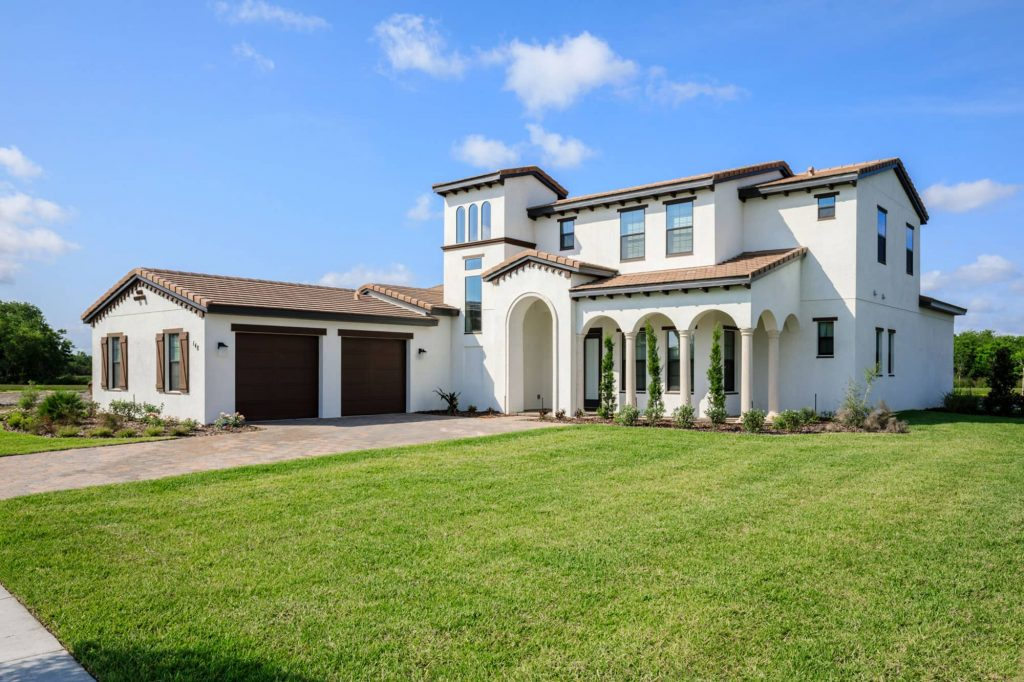 exterior of 5 bedroom vacation rental home at Balmoral Florida Resort in Haines City, FL