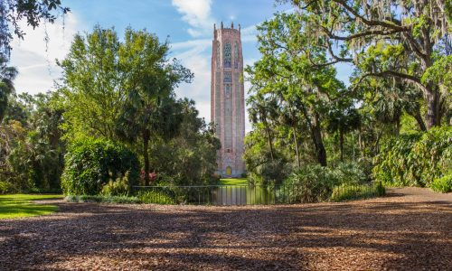 Carillon Tower at Bok Tower Gardens in Lake Wales