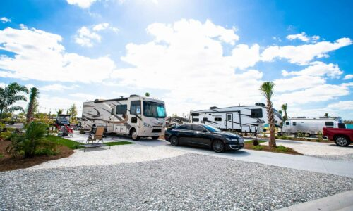 RVs and campers at Cabana Club Resort in Auburndale Florida