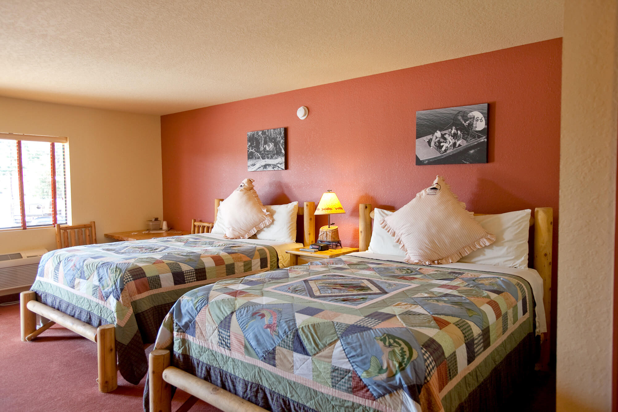 Double queen room at Camp Mack Resort Motel in Lake Wales, FL