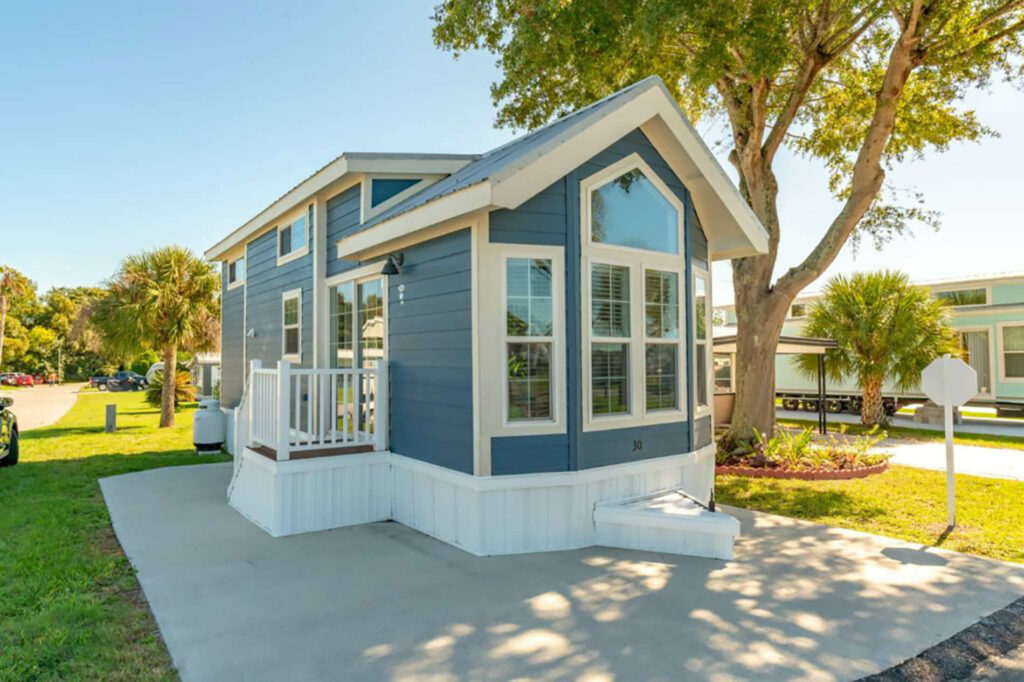 exterior of Standard Vacation Rental with Loft at Central Park RV Resort and Haines City