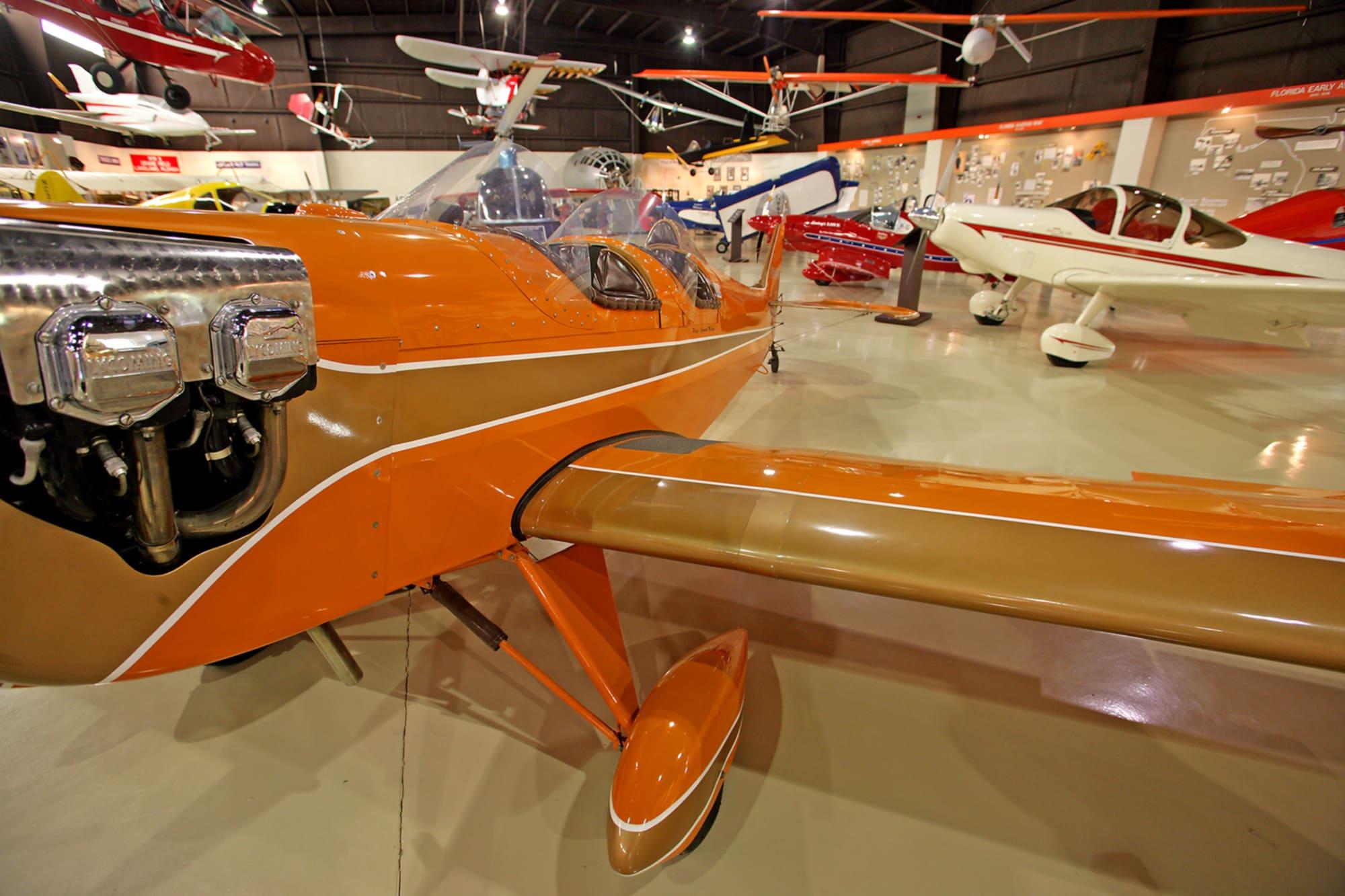 Multiple airplanes on display at Florida Air Museum in Lakeland, FL