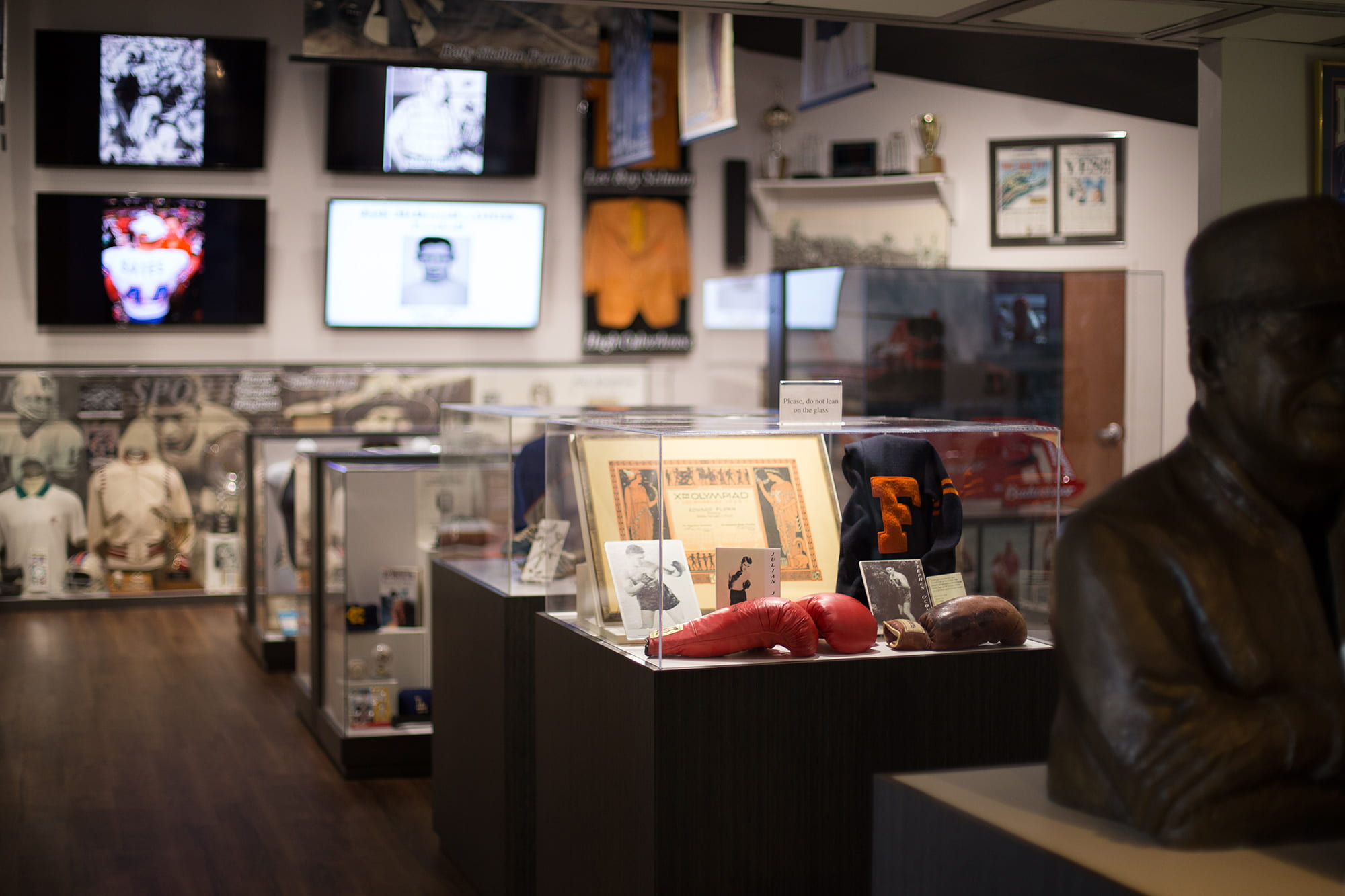Sports memorabilia from Florida athletes on display at Florida Sports Hall of Fame Preview Center in Davenport, FL
