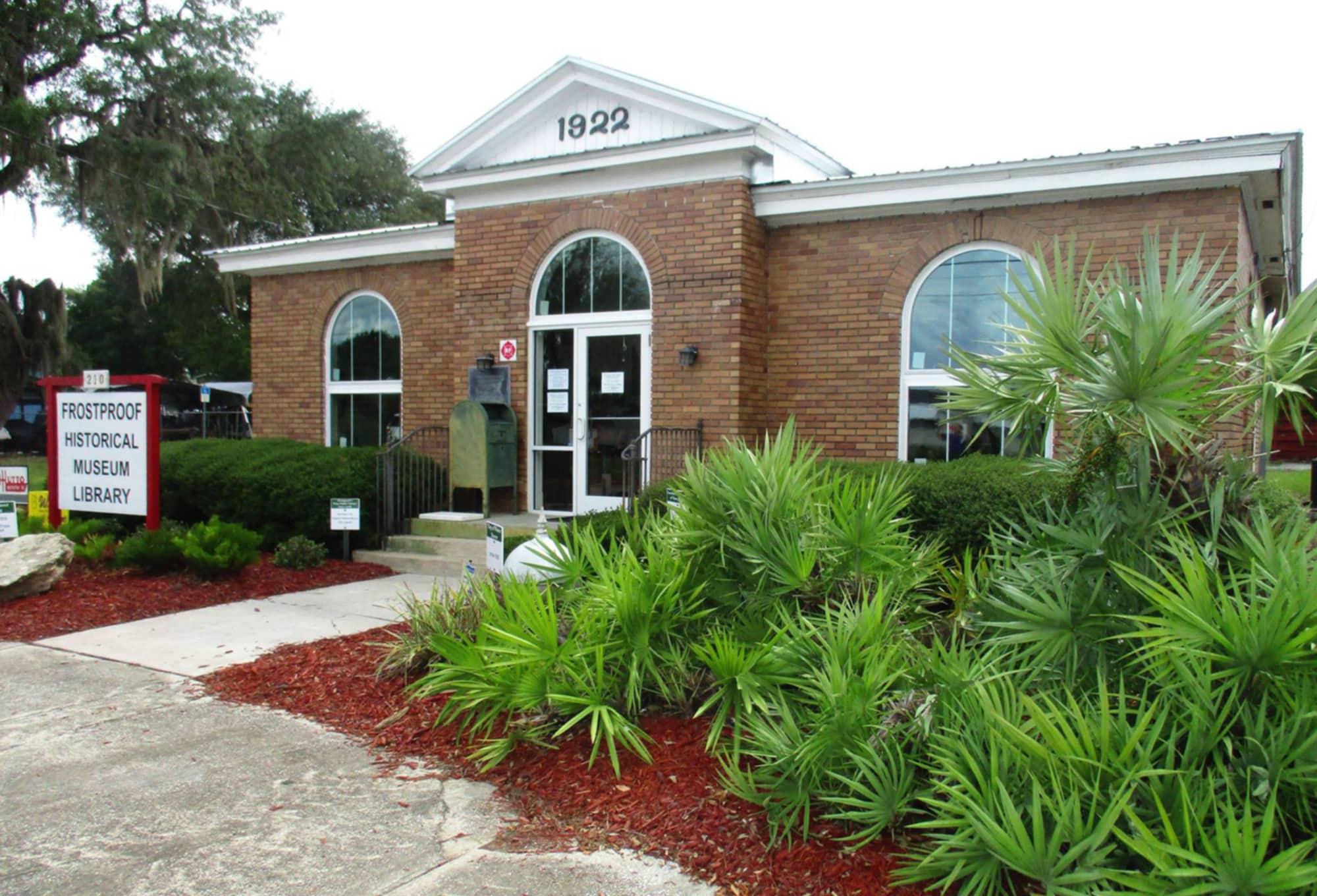 Exterior of Frostproof Historical Museum in Frostproof, FL