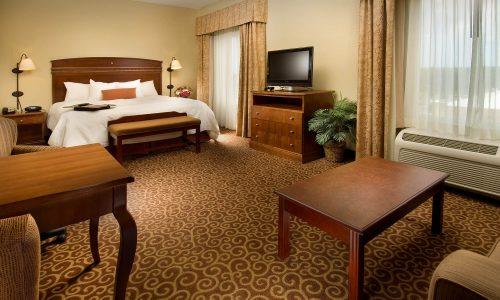 King suite at Hampton Inn & Suites Lakeland South-Polk Parkway