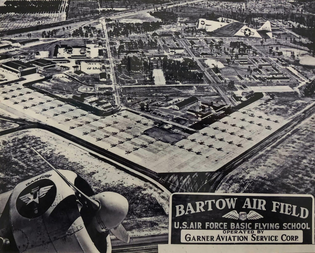 historic map of Bartow Air Base from the Airport's history museum