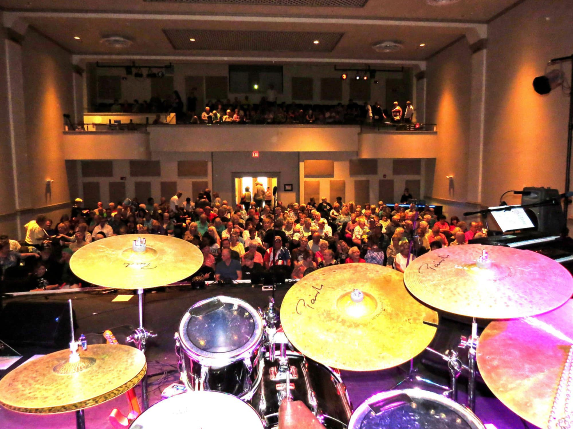 Audience during a concert at Ramon Theater in Frostproof, FL