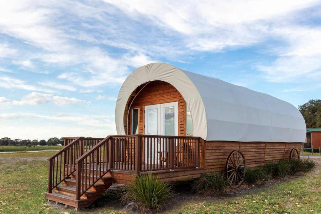 Luxe Conestoga Wagon at Westgate River Ranch Resort in Lake Wales, FL