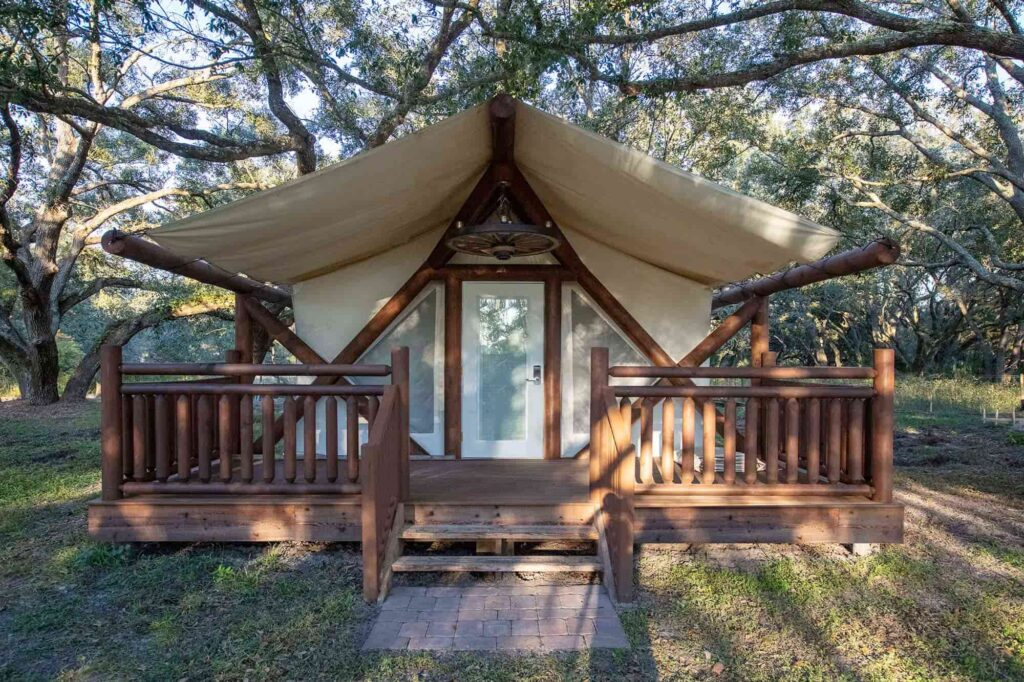 Luxe Glamping Tent at Westgate River Ranch Resort in Lake Wales, FL