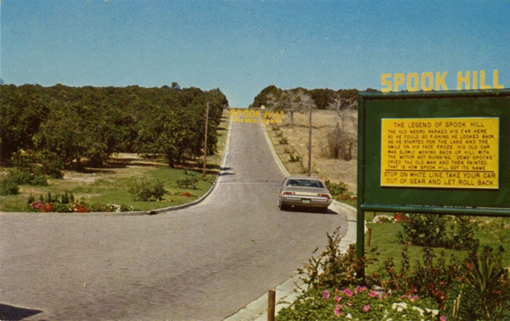 vintage photo of Spook Hill in Lake Wales, FL