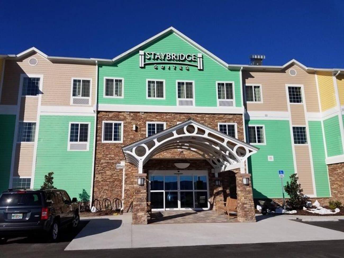 Exterior entrance of Staybridge Suites Lakeland West
