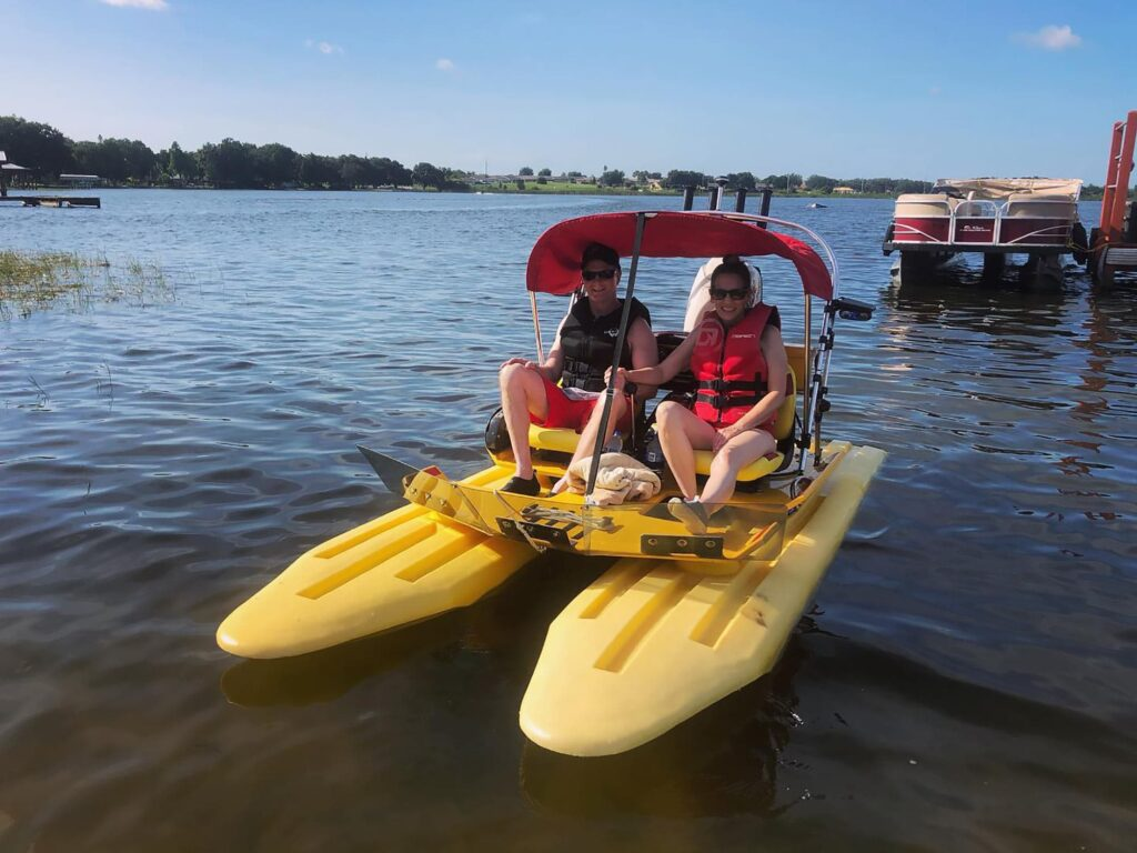 rent a CraigCat Compact Power Boat from Winter Haven Water Sports