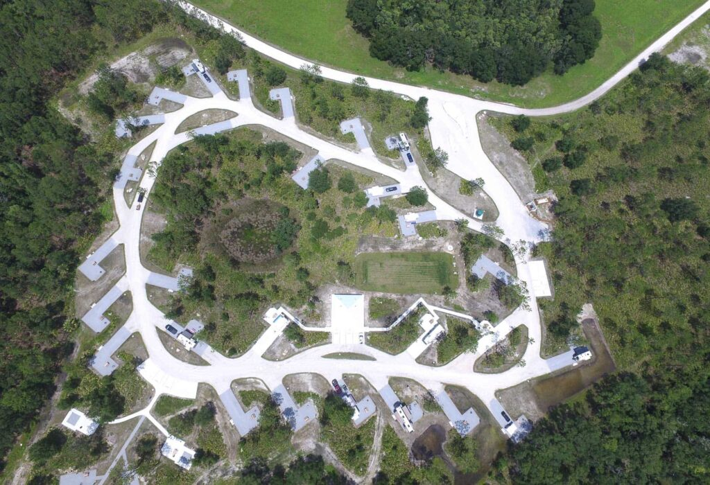 tent and RV campground at Colt Creek State Park in Lakeland FL
