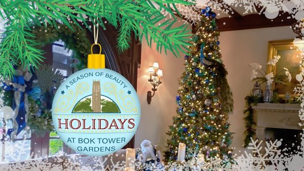 Poster Image for Holiday Home Tour at Pinewood Estate | Bok Tower Gardens in Lake Wales, FL | Travel Inspiration