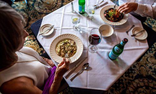 couple eating dinner at Arabellas Ristorante in Winter Haven, FL