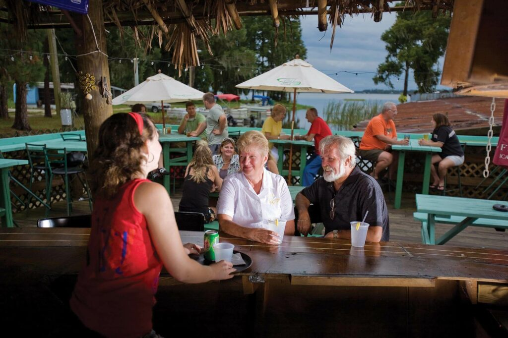 outdoor dining at Cherry Pocket Steak & Seafood Shak