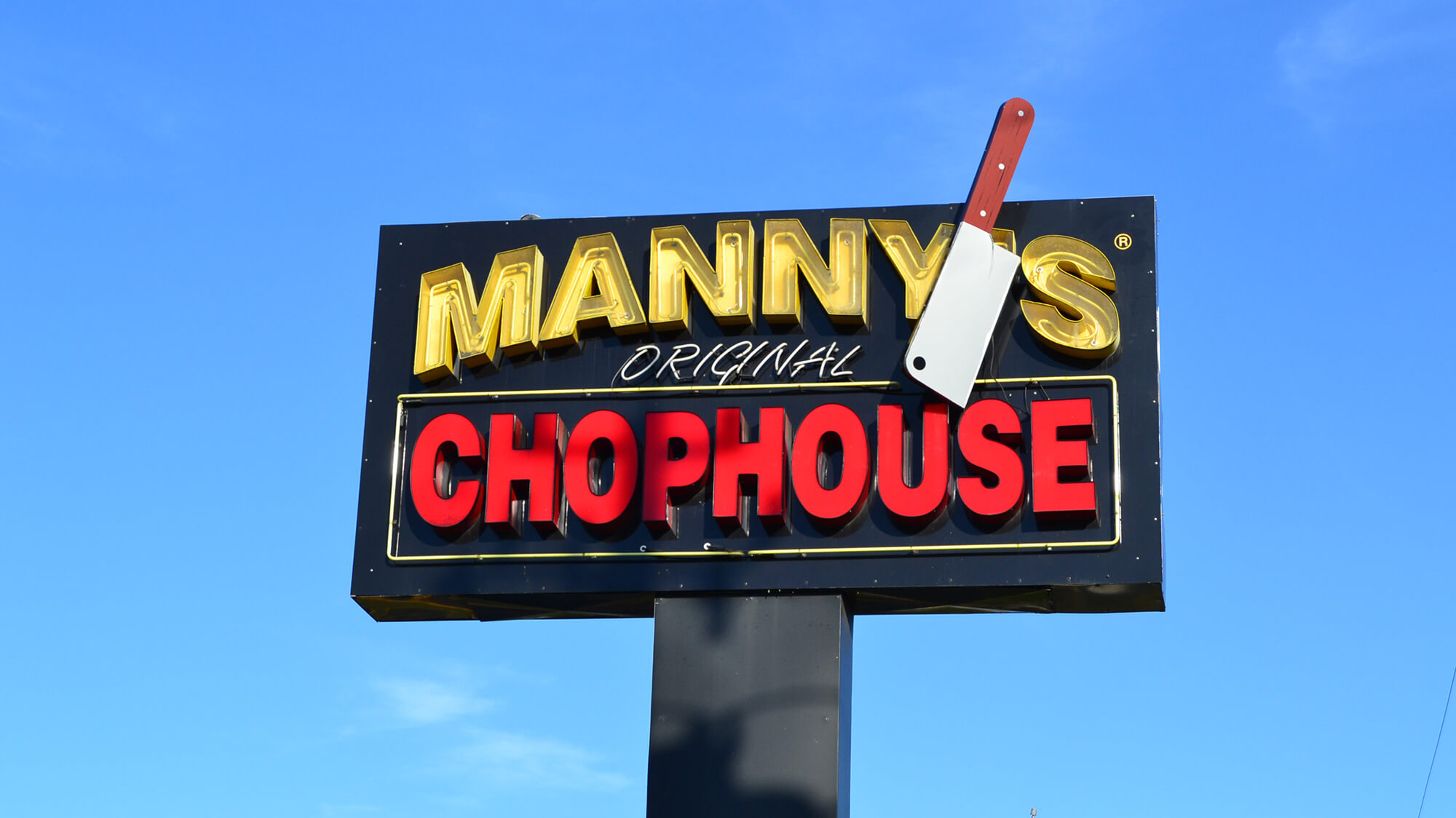 Manny's Original Chophouse sign