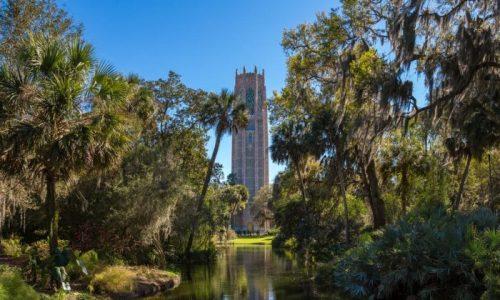 Carillon tower at Bok Tower Gardens in Lake Wales, FL