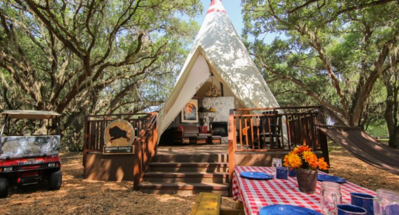 Teepee Glamping at Westgate River Ranch