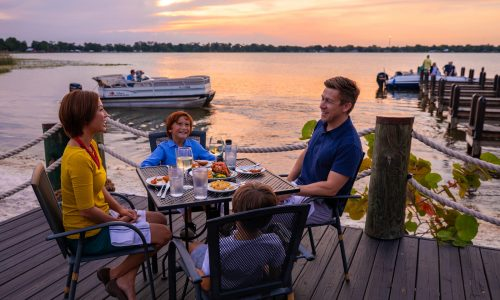 Harborside Restaurant is a great option for waterfront dining in Central Florida, located on Winter Haven's Lake Shipp