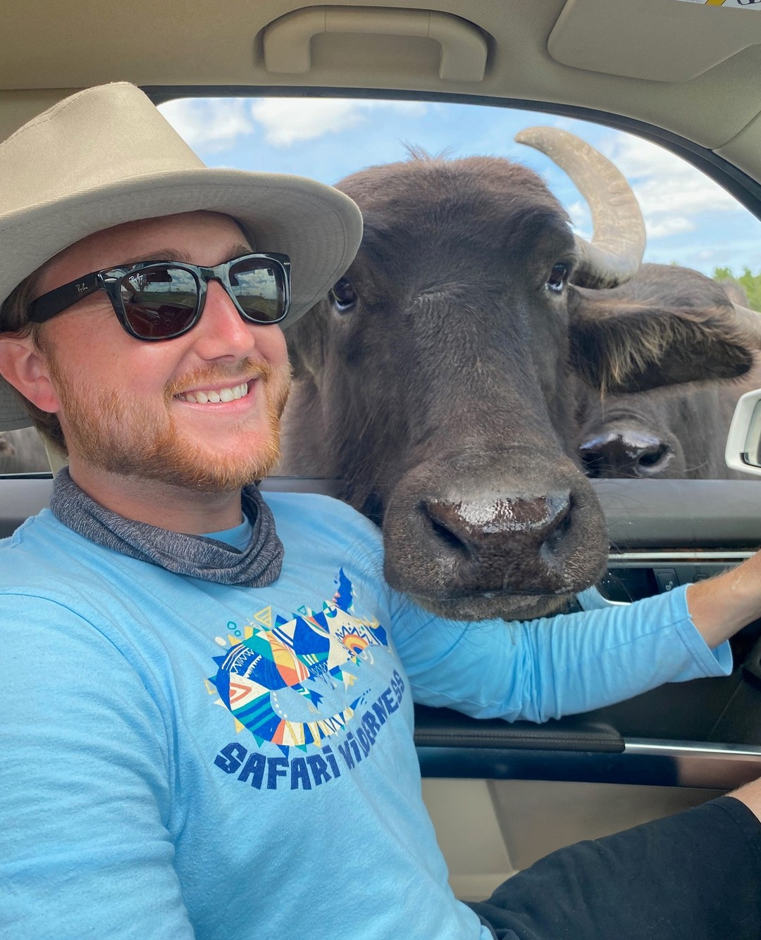 What is as big as a water buffalo, but weighs nothing?🤔⬇⬇⬇Its shadow!😜.It might be #InternationalJokeDay, but the new drive-thru safaris at @SafariWilderness are NO joke! See the exotic species of wildlife that call this 260-acre ranch home, from the comfort of your own vehicle. You can even feed them!.Reservations are required. Click the link in our bio or call 813-382-2120 to book a safari....#SafariWilderness #SafariWild #SafariWildernessRanch #YesSafariWild #CentralFL #CentralFlorida #VisitCentralFL #LoveFL #Wildlife #DriveThruSafari #Safari #JokeDay #Buffalo #WaterBuffalo