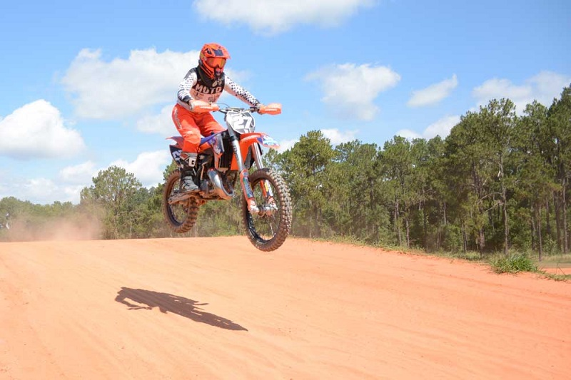 Dirt Bikes on the Track at Bone Valley
