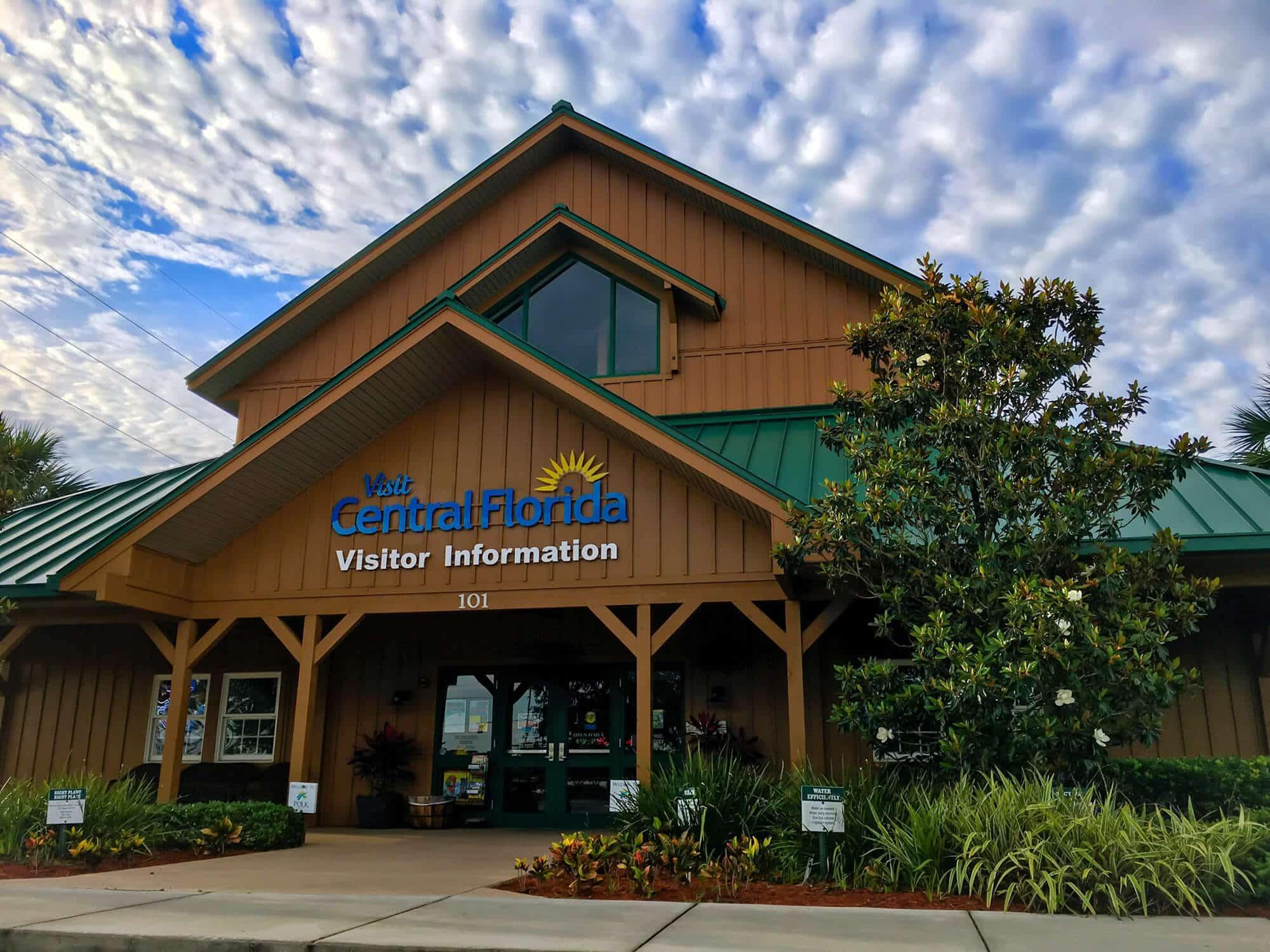 Front entrance of Central Florida's Visitor Information Center in Davenport, FL