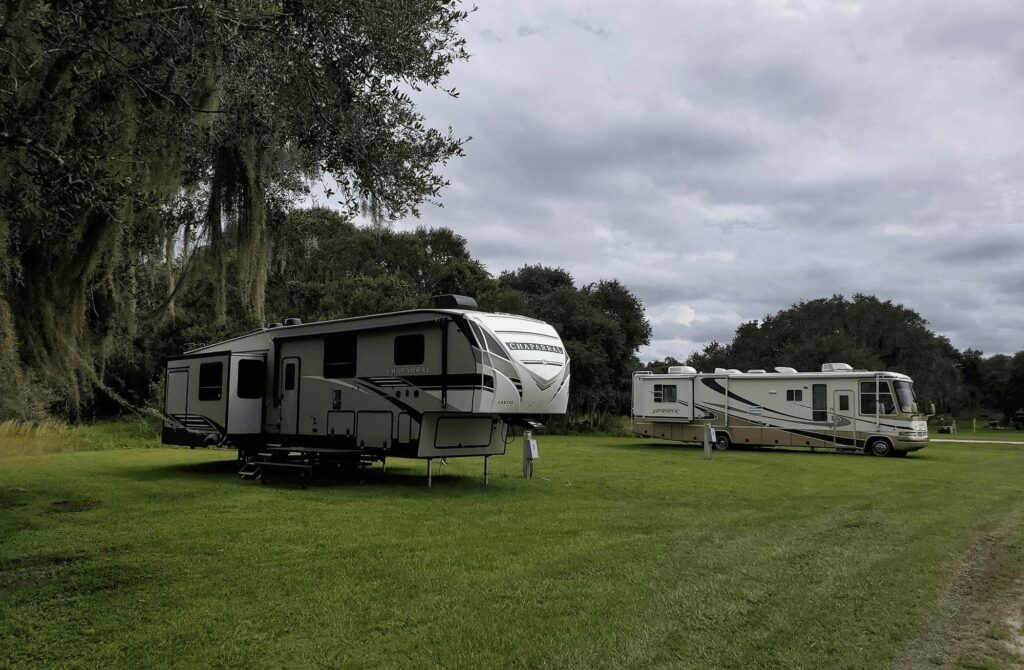Coleman Landing Campground at Shady Oaks travel trailer 5th wheel travel trailer and motorhome