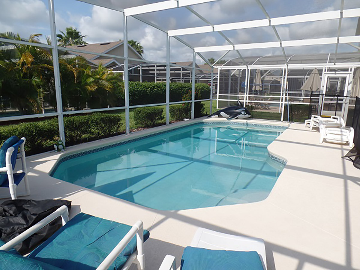 pool area of vacation rental home managed by Kellett Rentals