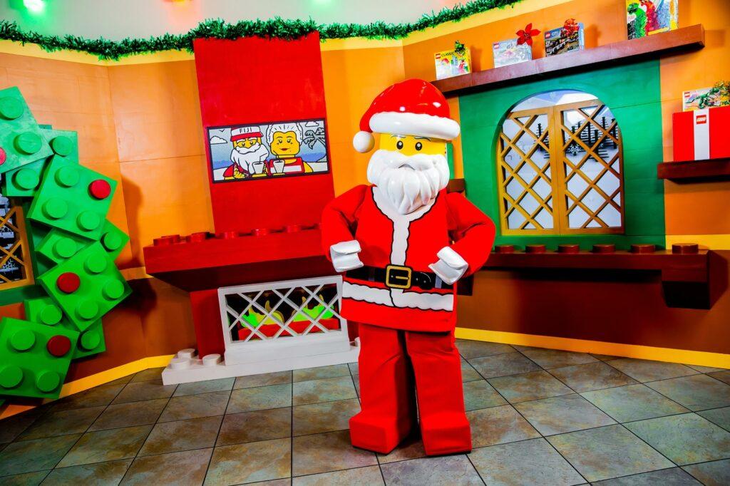 Santa at photo spot during Holidays at LEGOLAND
