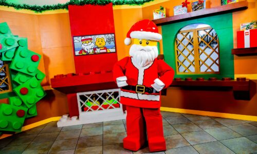Santa at photo spot during Holidays at LEGOLAND