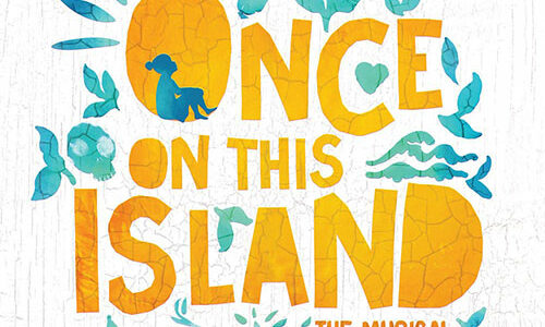 logo for Once on This Island, a musical presented by Theatre Winter Haven