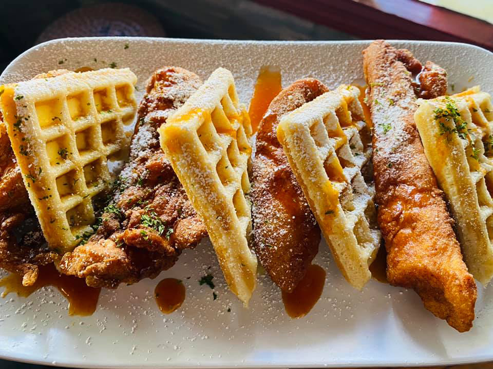 Chicken and waffles brunch at Tempo 1930 in Winter Haven