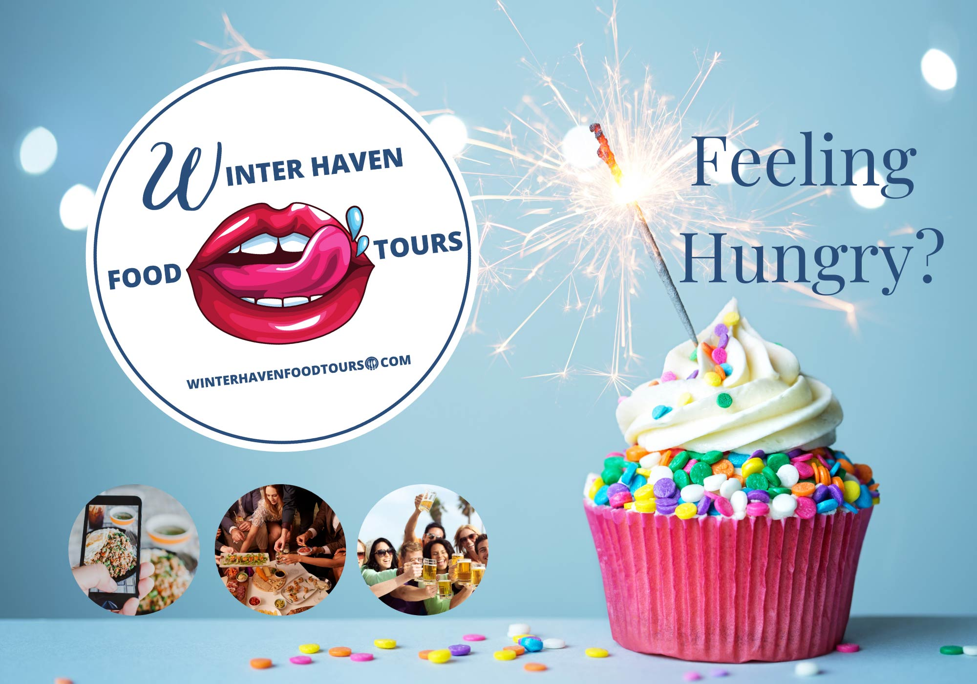 Winter Haven Food Tours postcard and logo