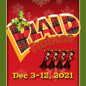 Plaid Tidings Poster for Small But Mighty Musicals Series