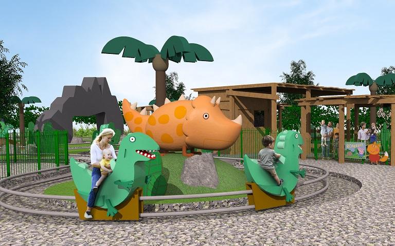 Rendering of Grampy Rabbit's Dinosaur Adventure