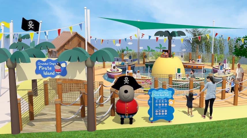Rendering of Gradad Dog's Pirate Island Boat Ride