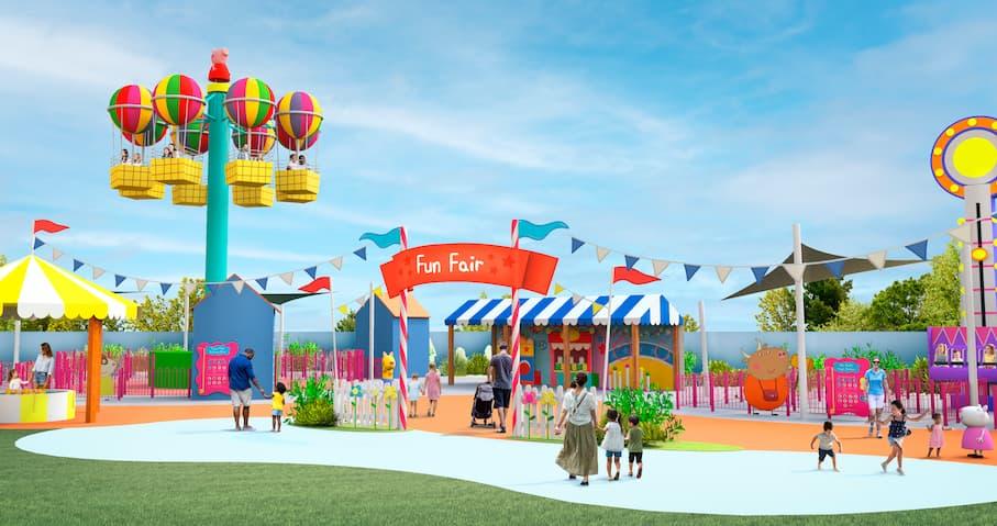 Rendering of Peppa Pig's Balloon Ride