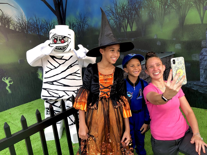 Selfies with Monsters at Halloween Time at LEGOLAND Florida