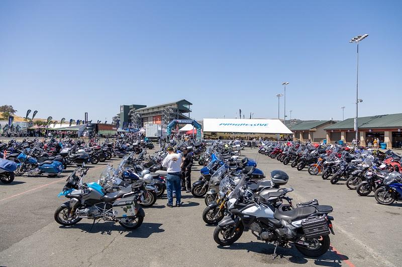 Motorcycle parking at Sun n Fun